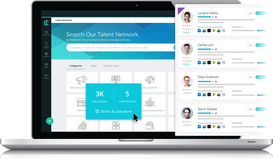 Find Vetted Talent in 200+ Business Categories