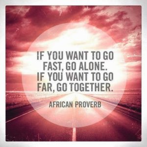 if you want to go fast, go alone