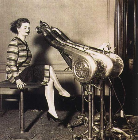 vintage hair dryer (yikes!)