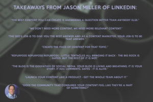 jason miller takeaways