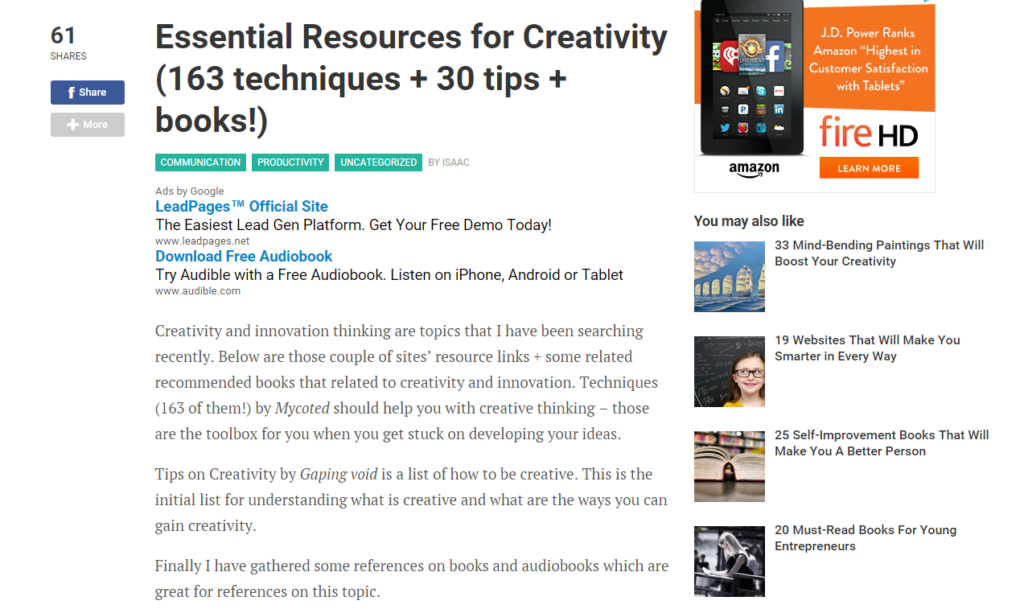 content marketing resources