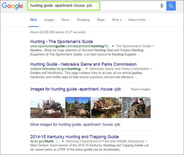 hunting guide apartment house job Google Search