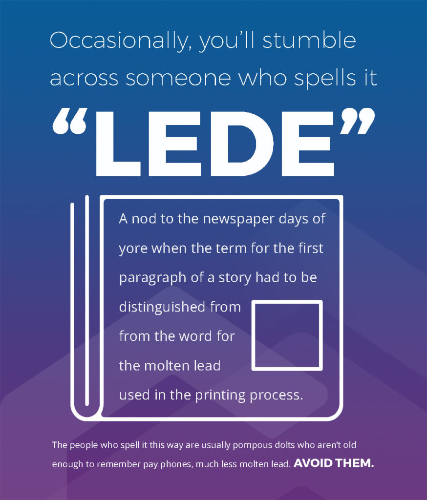 How to Write a Lead: Lede vs. Lead Origin