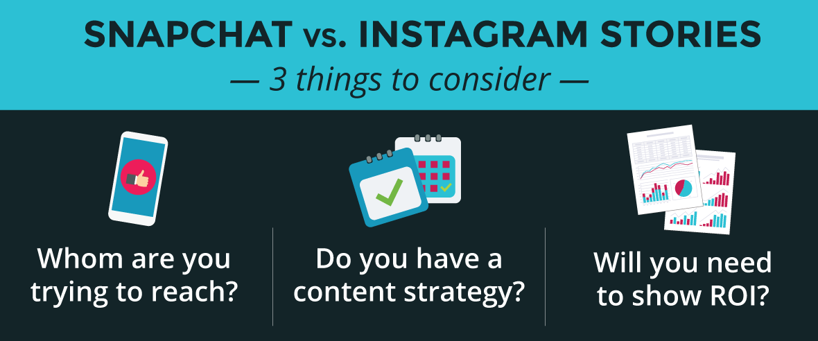 Snapchat vs. Instagram Stories: Three Things to Consider in Your Content Marketing