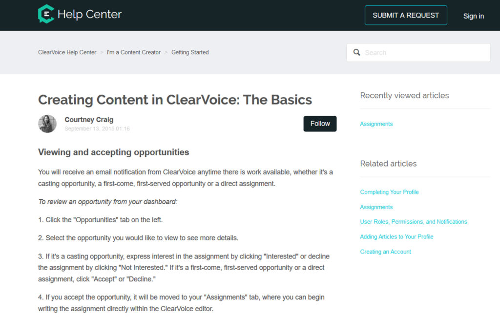 Creating Content in ClearVoice: The Basics