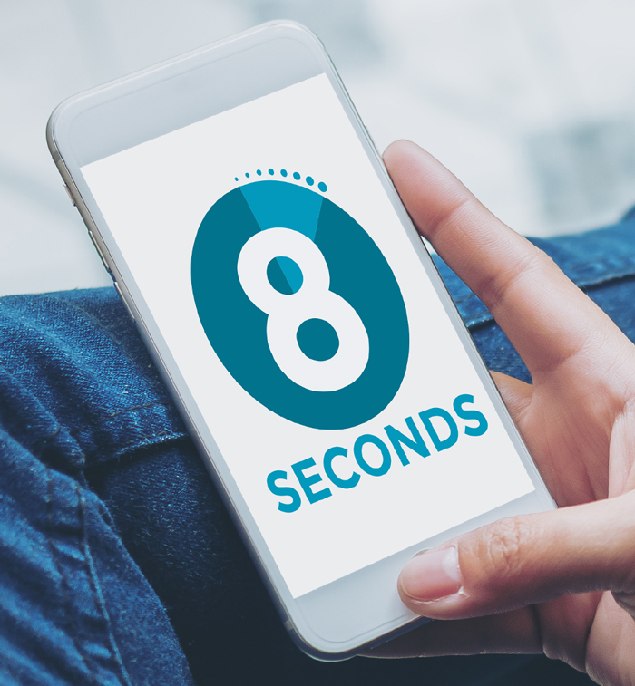 The attention span of an online reader is eight seconds