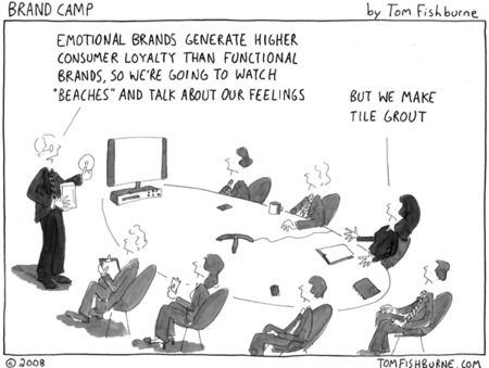 Brand camp cartoon by Tom Fishburne
