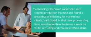 LaneTerraLever sees content production increase after using ClearVoice.