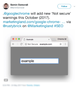 Top Content Marketing News #19: Google Chrome Will Let You Know If Your Site Isn't Secure