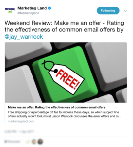 Top Content Marketing News #20: Stop Putting Offers in Your Email Subject Lines