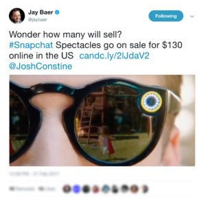 Top Content Marketing News #22: SnapChat Spectacles Become Available to the Masses