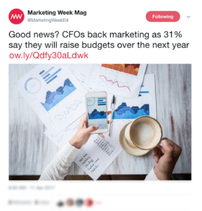 Top Content Marketing News #9: Bigger Marketing Budgets in 2018