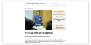 Columbia Journalism School's courses for content marketing professionals