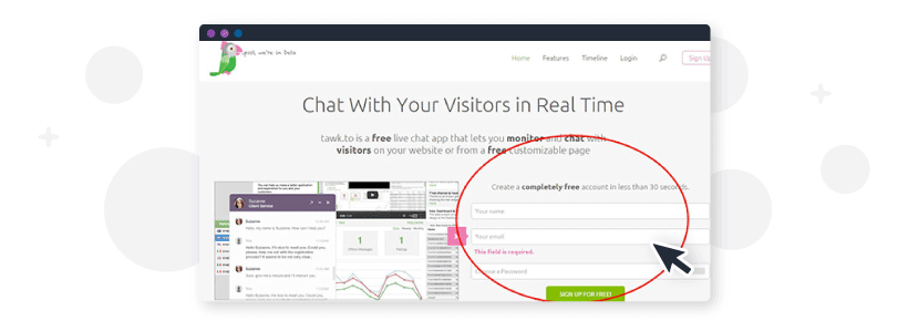 setting up a free live chat bot with tawk.to