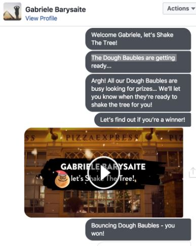 "Pizza Express's ""Shake the Tree"" Facebook Messenger Game"