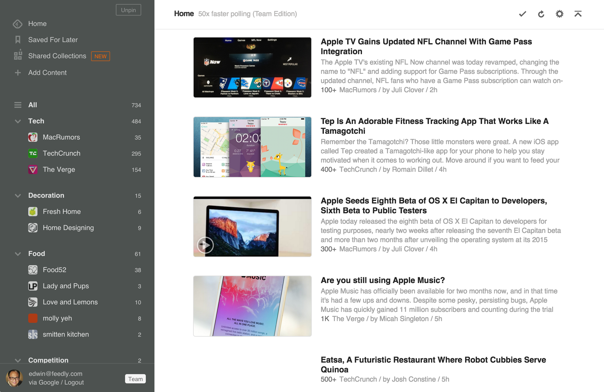 Using Feedly for content curation