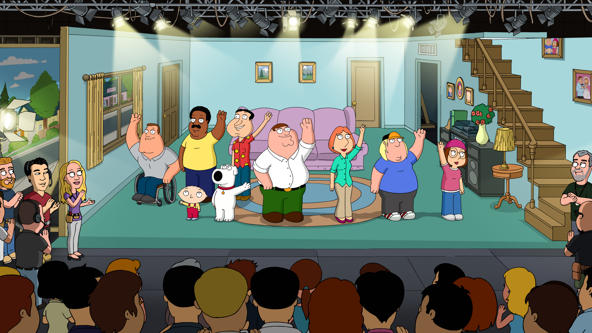 "On the ""set"" of the animated hit series 'Family Guy'"