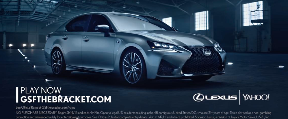 Lexus and Yahoo's Partner Campaign for March Madness