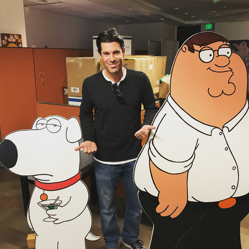 At the production offices of 'Family Guy'