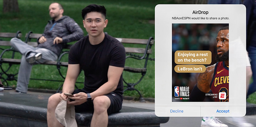 ESPN AirDrop Marketing