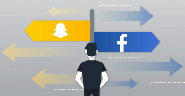 Snapchat and Facebook Headed In Opposite Directions