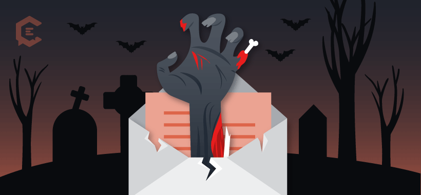 #4 scariest news item in content marketing: Email's ominous open rate.