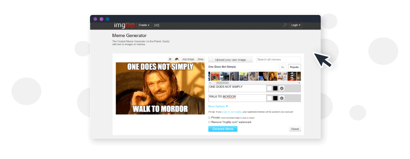 Using imgflop meme generator to create customize meme images for you content marketing