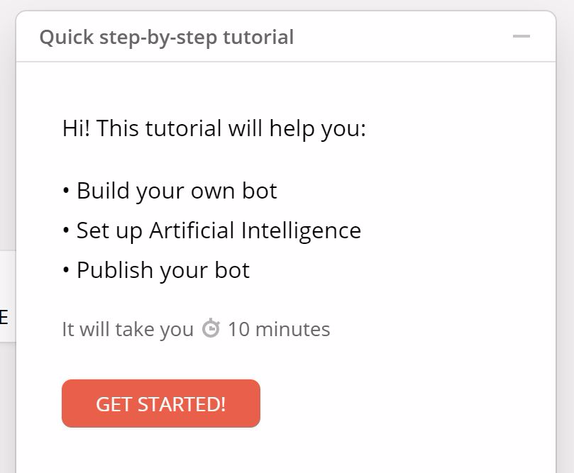 Building Your Facebook Chatbot - Step 3: Walk through in-app tutorial