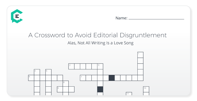 A Crossword to Avoid Editorial Disgruntlement - Downloadable PDF