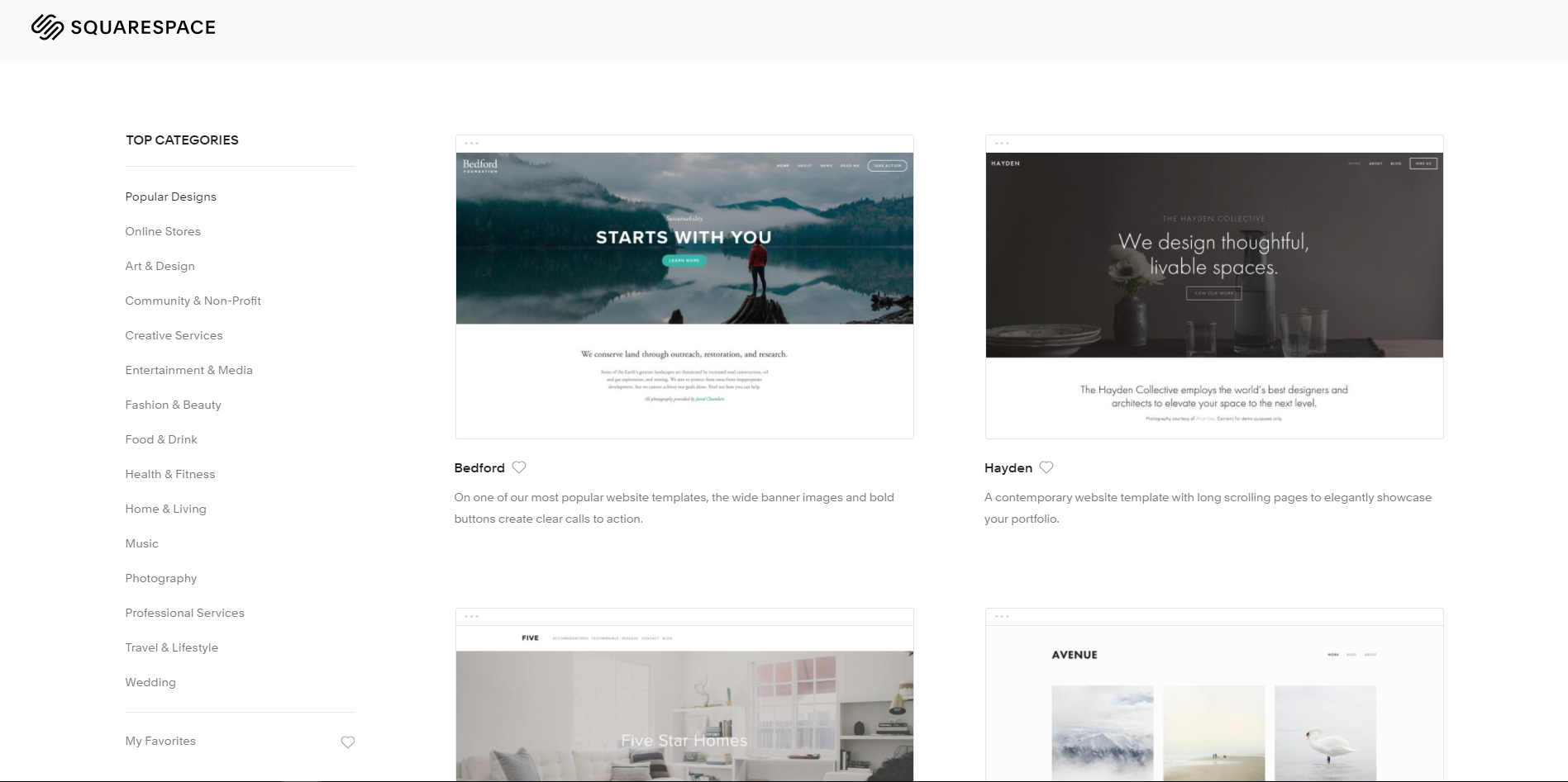 How many templates does Squarespace offer to help build your website.