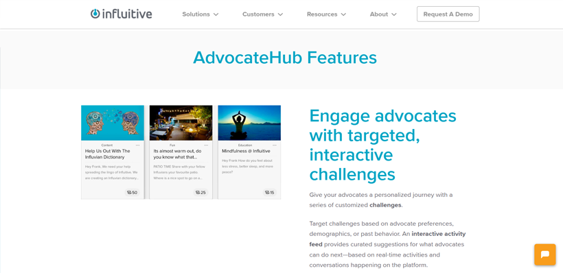 Using the AdvocateHub feature of Influitive
