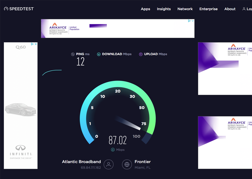 speed test logistic
