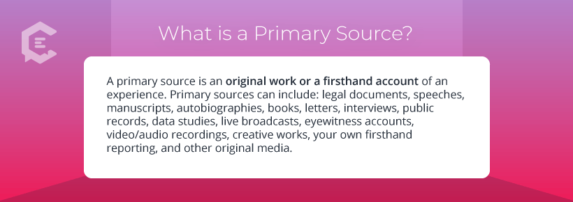 Definition: What is a primary source?