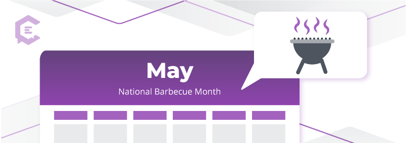 May 2020 social media calendar - National Barbecue Month