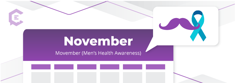 Movember for men's health awareness, November 2020