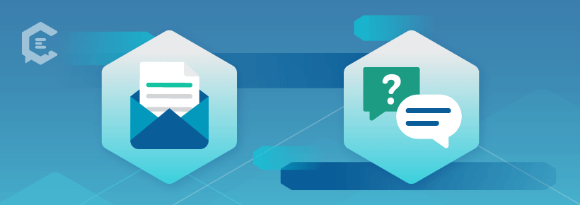 Types of content: Email and FAQs