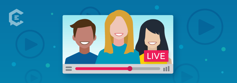 Using real people in live video marketing
