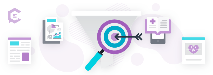 Using marketing funnels to create targeted health care content.