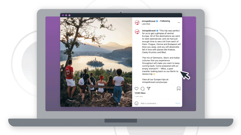 Consider: Social media post from Intrepid Travel