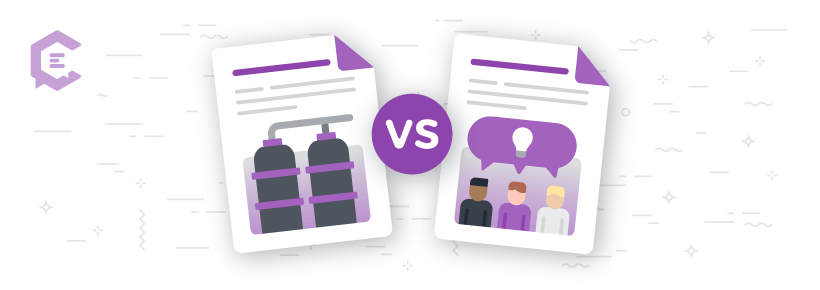 Siloed content vs. collaborative content creation