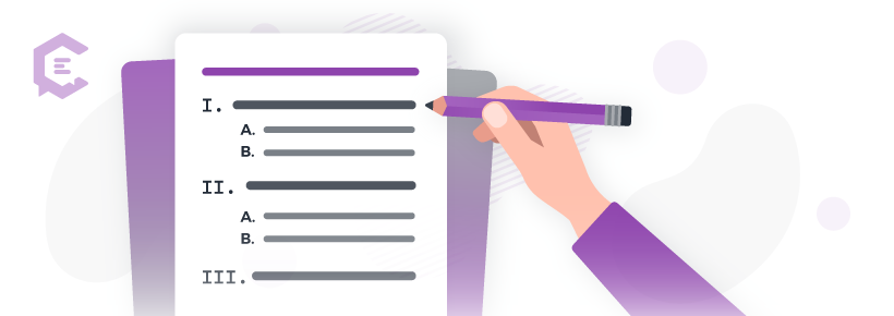 Tips for creating excellent long-form content: Create a solid outline and compelling headline.