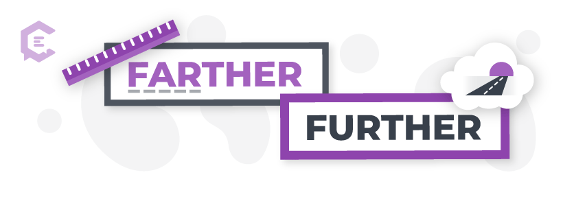 When to use farther vs. further.