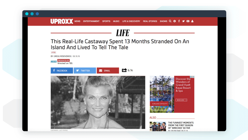 Native advertising example by Uproxx