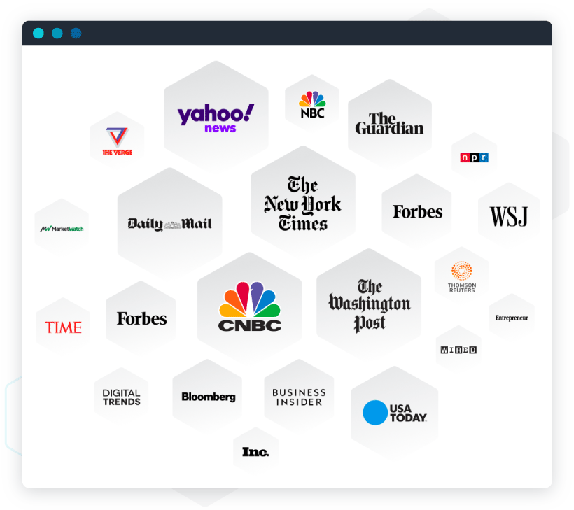 Examples of logo jungles: Major publishers indexed daily by our VoiceGraph Talent Discovery engine.